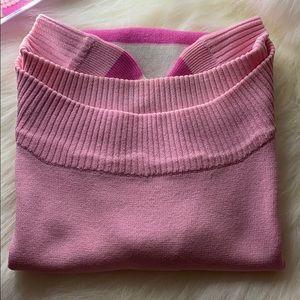 Pink off shoulder shit!!